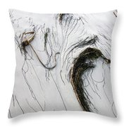 The Face Of Seaweed Throw Pillow by Mary Lee Dereske