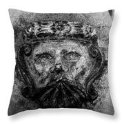 The Face Of War Throw Pillow