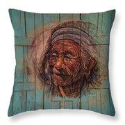 The Face Of Wisdom Throw Pillow