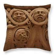 The Faces Of Old City Hall - 1  Throw Pillow