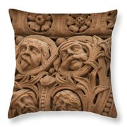 The Faces Of Old City Hall - 2 Throw Pillow