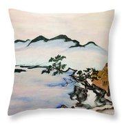 The Fading Spirit Of Chikanobu Awakened By Shintoism Throw Pillow