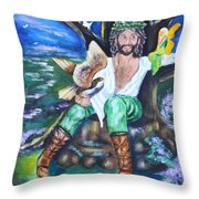 The Faery King Throw Pillow