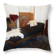 The Fainting Couch Throw Pillow