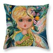 The Fairies Of Wine Series - Chardonnay Throw Pillow