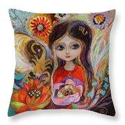 The Fairies Of Zodiac Series - Scorpio Throw Pillow