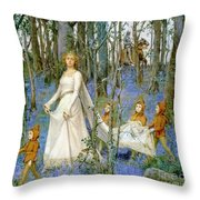 The Fairy Wood Throw Pillow by Henry Meynell Rheam
