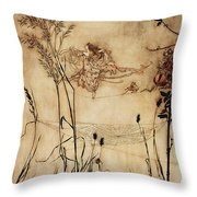 The Fairy's Tightrope From Peter Pan In Kensington Gardens Throw Pillow