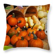 The Fall Harvest Is In Kendall Square Farmers Market Throw Pillow