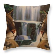 The Fall Of A Reflection  Throw Pillow