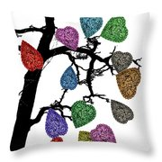 The Fall Of Hearts Throw Pillow