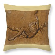 The Fall Of Icarus Throw Pillow
