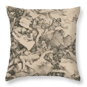 The Fall Of The Giants Throw Pillow