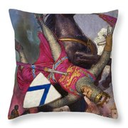 The Fall Of William The Conqueror Throw Pillow