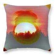 The Falling Sun  Throw Pillow