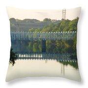 The Falls And Roosevelt Expressway Bridges - Philadelphia Throw Pillow