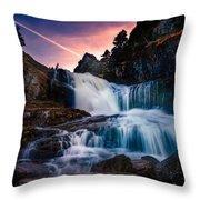 The Falls At Flatrock Throw Pillow