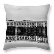 The Falls Bridge From Kelly Drive Throw Pillow