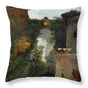The Falls Of Tivoli Throw Pillow