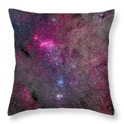 The False Comet Cluster Area Throw Pillow