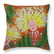 Family 2 Throw Pillow