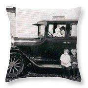 The Family Car Throw Pillow