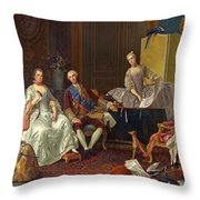 The Family Of Philip Of Parma  Throw Pillow