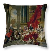 The Family Of Philip V Throw Pillow