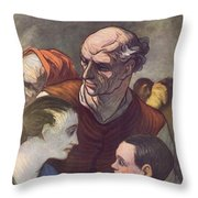 The Family On The Barricades Throw Pillow