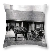 The Family Ride Throw Pillow