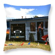 The Famous Murals On Route 66 Throw Pillow