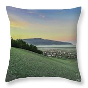 The Far Mountain Throw Pillow