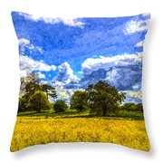 The Farm Art Throw Pillow