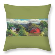 The Farm To The East Throw Pillow