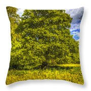 The Farm Tree Art Throw Pillow