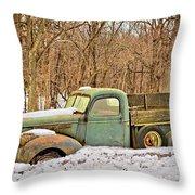 The Farm Truck Throw Pillow