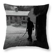 The Farmer Throw Pillow