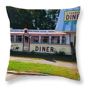 The Farmers Diner Throw Pillow