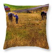 The Farmers Friend Throw Pillow