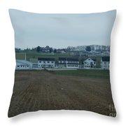 The Farmland Has Been Tilled Throw Pillow