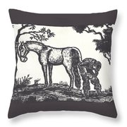 The Farrier Trims Geronimo Throw Pillow