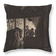 The Farrier's Shop Throw Pillow