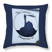 The Fastnet Pub Mural, Newport R. I. Throw Pillow