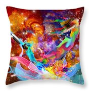 The Fathers Paint Brush Throw Pillow