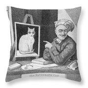The Favourite Cat And De La Tour The Painter Throw Pillow