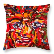 The Fearless Warrior Throw Pillow