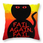 The Fearline Of Failure Throw Pillow