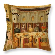 The Feast Of Herod And The Beheading Of The Baptist Throw Pillow
