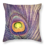 The Feather In Colour Throw Pillow
