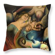 The Feathered Serpent  Throw Pillow